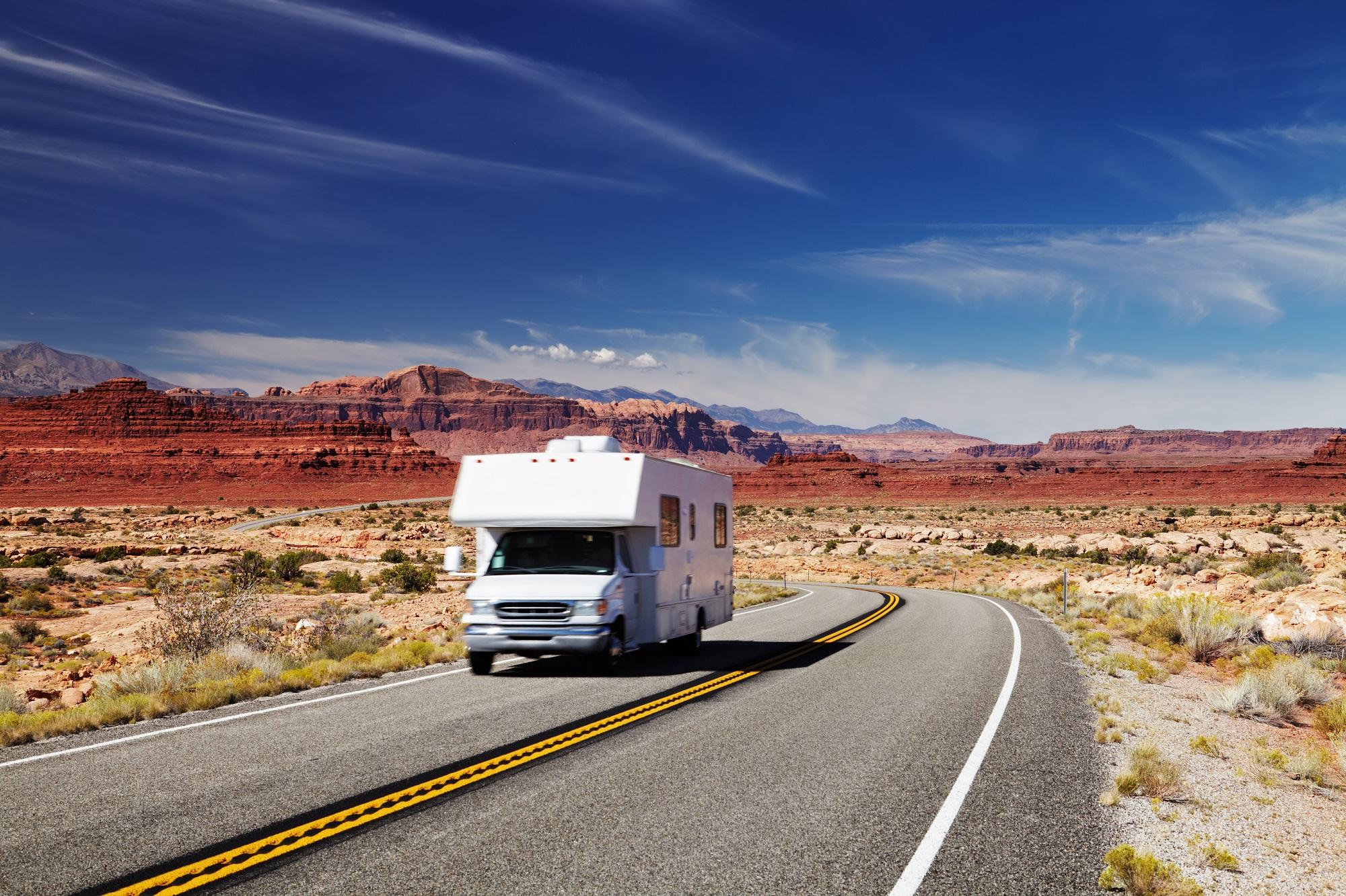 Camper roadtrip door West Amerika